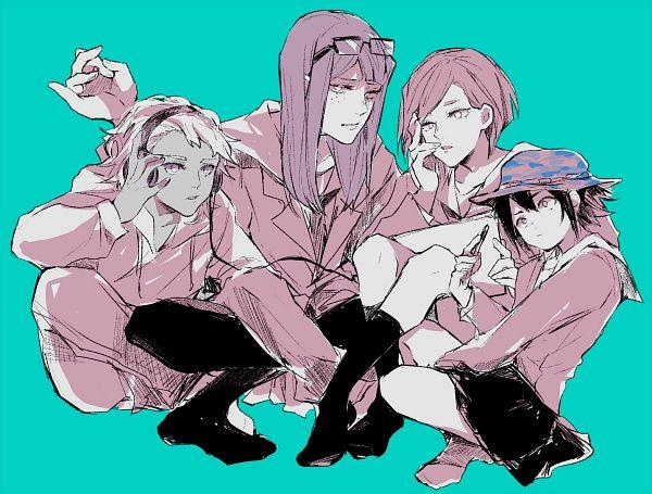 Tags: Anime, Eizouken ni wa Te wo Dasu na!, Mizusaki Tsubame, Kanamori Sayaka, Asakusa Midori, Doumeki (Eizouken Ni Wa Te Wo Dasu Na!), Aqua Background, Fanart