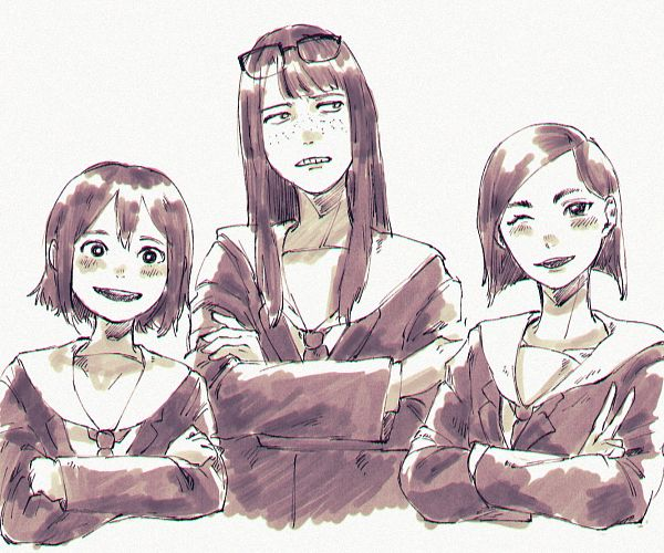 Tags: Anime, Eizouken ni wa Te wo Dasu na!, Mizusaki Tsubame, Kanamori Sayaka, Asakusa Midori