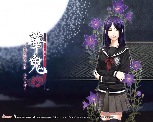 Tags: Anime, Shiki Sakigumi, IDEA FACTORY, Hanaoni, Ejima Shikiko, Official Wallpaper, Wallpaper, Official Art