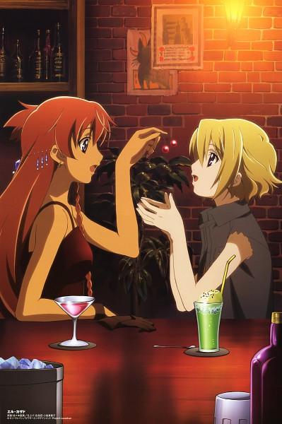 Tags: Anime, Sasaki Mutsumi (Bee Train), El Cazador de la Bruja, Comp H's 5, Ellis (El Cazador de la Bruja), Nadie, Official Art, Mobile Wallpaper
