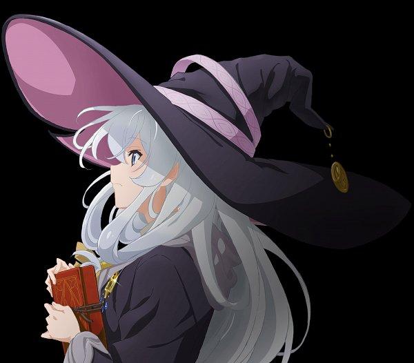 Tags: Anime, Oda Takeshi, C2C (Studio), Majo no Tabitabi, Elaina (Majo no Tabitabi), Key Visual, Official Art