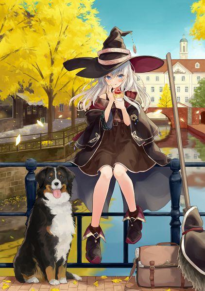 Tags: Anime, Azuuru, Majo no Tabitabi, Elaina (Majo no Tabitabi), Crêpe, Fanart From Pixiv, Official Art, Pixiv, Fanart