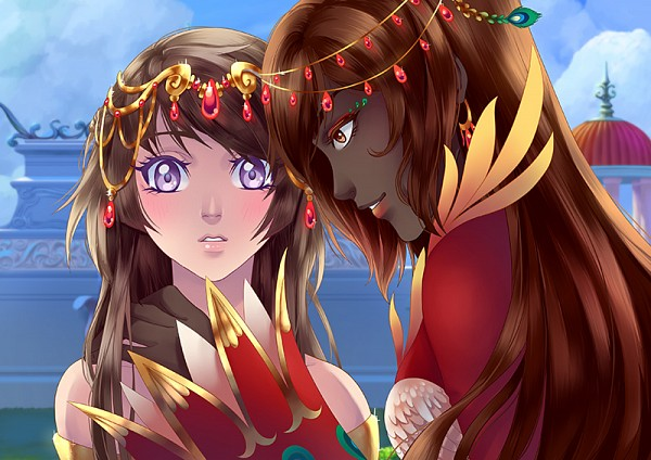 Tags: Anime, ChiNoMiko, Eldarya, Huang Hua (Eldarya), Erika (Eldarya), Official Art