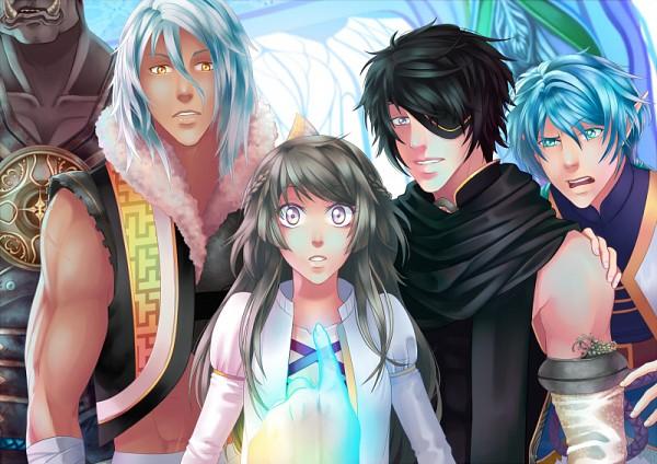 Tags: Anime, ChiNoMiko, Eldarya, Valkyon (Eldarya), Erika (Eldarya), Ezarel (Eldarya), Nevra (Eldarya), Official Art