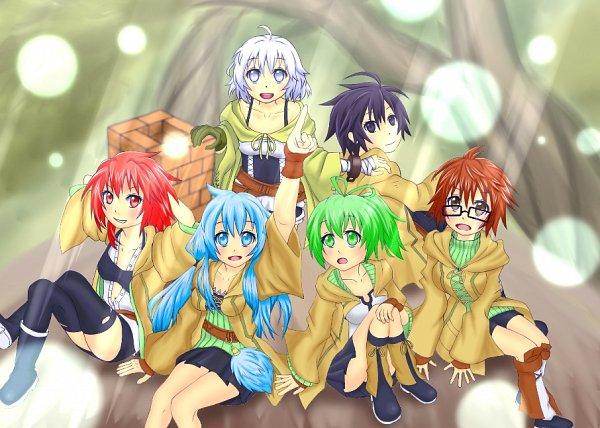 Tags: Anime, Pixiv Id 31624057, Yu-Gi-Oh!, Eria the Water Charmer, Wynn the Wind Charmer, Lyna the Light Charmer, Hiita the Fire Charmer, Dharc the Dark Charmer, Aussa the Earth Charmer, Pixiv, Fanart From Pixiv, Fanart, Elemental Charmers