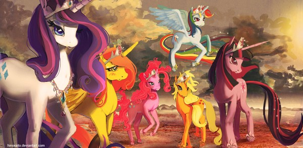 Tags: Anime, Hinoraito, My Little Pony, Applejack, Fluttershy, Twilight Sparkle, Rarity, Rainbow Dash, Pinkie Pie, Alicorn, Pegasus, Cutie Mark, deviantART