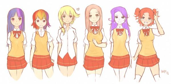 Tags: Anime, Derpiihooves, My Little Pony, Applejack, Fluttershy, Twilight Sparkle, Rarity, Rainbow Dash, Pinkie Pie, Fanart, Fanart From DeviantART, Facebook Cover, deviantART