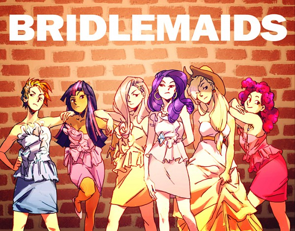 Tags: Anime, Blue-fox, My Little Pony, Rainbow Dash, Pinkie Pie, Applejack, Fluttershy, Twilight Sparkle, Rarity, Brick Wall, Fanart From DeviantART, deviantART, Fanart