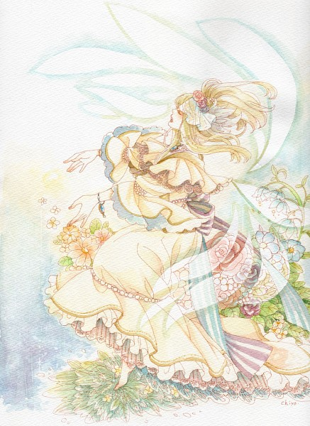 Tags: Anime, Chiyo (Pixiv53622), Elisabeth von Wettin, Lily Of The Valley, Mobile Wallpaper, Traditional Media, Märchen, Sound Horizon