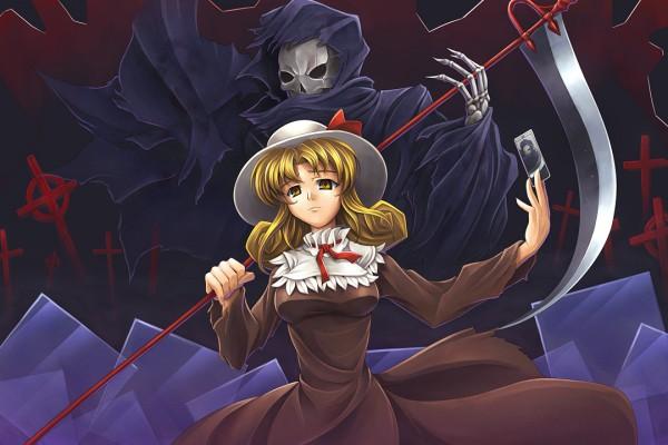Tags: Anime, Tubane, Touhou, Grim Reaper, Elly, Tarot Cards, PC-98 Touhou Era