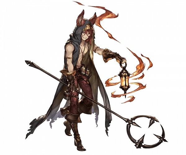 Tags: Anime, Minaba Hideo, Cygames, Granblue Fantasy, Elmott (Granblue Fantasy), Official Art, Cover Image, PNG Conversion