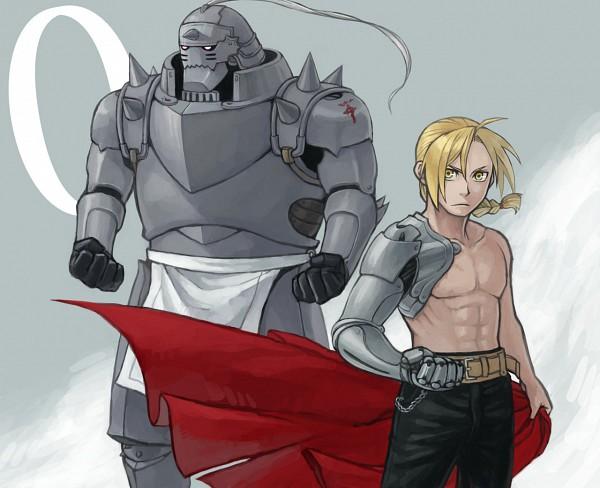 Tags: Anime, Mukuo, Fullmetal Alchemist, Fullmetal Alchemist Brotherhood, Alphonse Elric, Edward Elric, Loin Cloth, Fanart, Elric Brothers