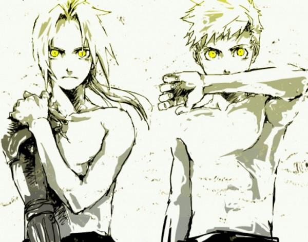 Tags: Anime, Fullmetal Alchemist, Alphonse Elric, Edward Elric, Fanart, Artist Request, Elric Brothers