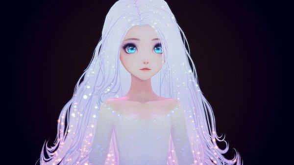 Tags: Anime, Bli., Frozen (Disney), Elsa the Snow Queen, Elsa the Fifth Spirit, White, Facebook Cover, Fanart, Disney, ArtStation