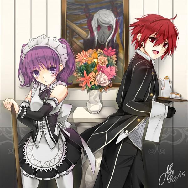 Tags: Anime, Pixiv Id 3283966, Elsword, Elsword (Character), Ran (Elsword), Aisha (Elsword), Fine Art Parody, The Scream, Fanart, Fanart From Pixiv, Pixiv
