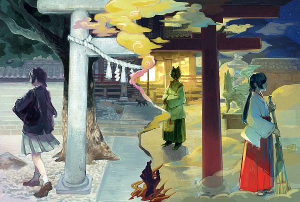 Tags: Anime, Pixiv Id 3967535, Sakuya Himeko, Jinja Kankeisha, Shrine, Ema ni Negai wo!, Fanart, Fanart From Pixiv, Pixiv, Sound Horizon