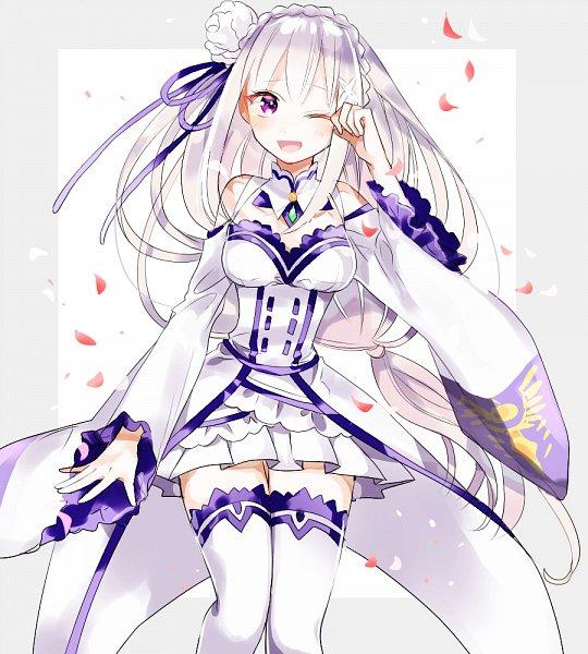 Tags: Anime, Pixiv Id 14298902, Re:Zero Kara Hajimeru Isekai Seikatsu, Emilia (Re:Zero), Fanart, Fanart From Pixiv, Pixiv