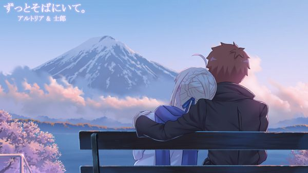 Tags: Anime, Pixiv Id 952566, Emiya-san Chi no Kyou no Gohan, Fate/stay night, Emiya Shirou, Saber (Fate/stay night), Wallpaper, Fanart From Pixiv, Pixiv, Fanart, Today's Menu For Emiya Family