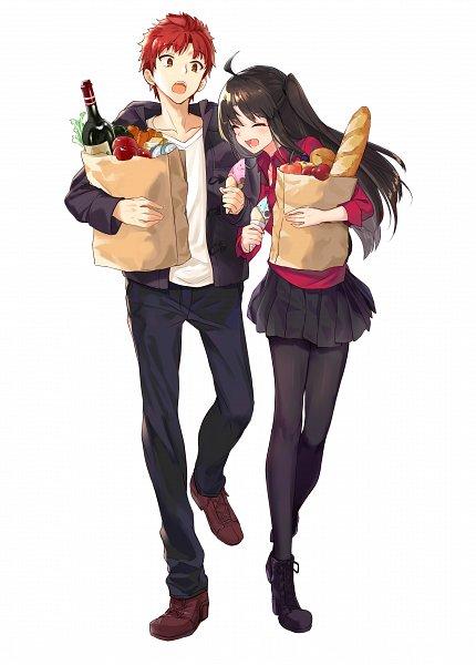 Tags: Anime, Miruto Netsuki, Emiya-san Chi no Kyou no Gohan, Fate/stay night, Emiya Shirou, Tohsaka Rin, Pixiv, Fanart, Fanart From Pixiv, Today's Menu For Emiya Family