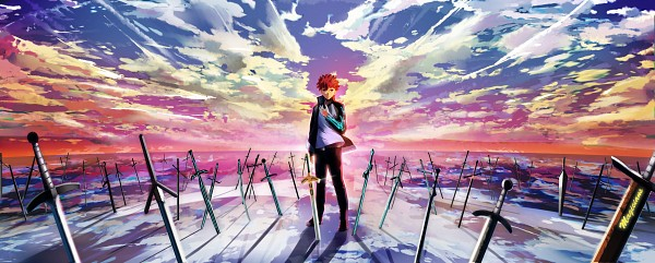 Tags: Anime, Pixiv Id 9580845, Fate/stay night, Emiya Shirou, Wallpaper, Facebook Cover, Fanart
