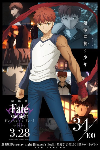 Tags: Anime, ufotable, Fate/stay night : Heaven's Feel - III Spring Song, Fate/stay night : Heaven's Feel, Fate/stay night, Emiya Shirou, Countdown Illustration, Collage, Revision, Official Art
