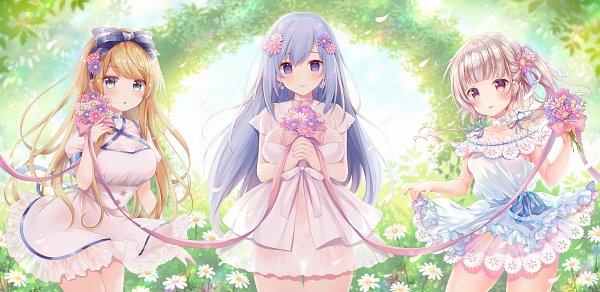 Tags: Anime, Miko (Pixiv 4837211), Emirio, Sakura Moyon, Emu Alice, Emori Miku, Esaka Marine, Daisy (Flower), Emori Miku Project