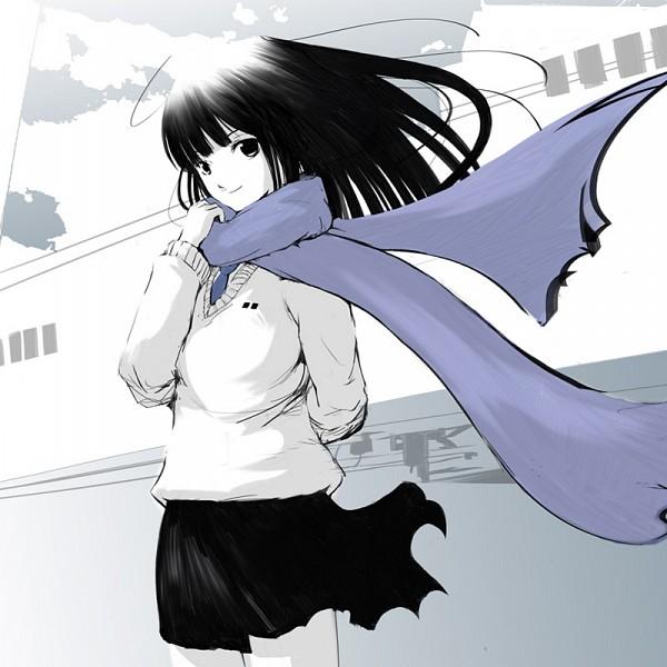 Tags: Anime, Emukami, Floating Scarf, Pixiv, Original