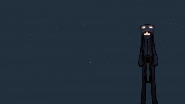 Tags: Anime, Minecraft, Enderman, Fond Sombre, Wallpaper, Facebook Cover, HD Wallpaper