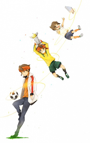 Tags: Anime, Tukemono6, Inazuma Eleven, Endou Mamoru, Trophy, Fanart From Pixiv, Fanart, Mobile Wallpaper, Pixiv, Mark Evans