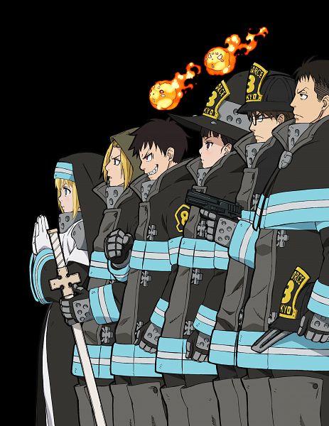 Tags: Anime, Morioka Hideyuki, david production, Enen no Shouboutai, Hinawa Takehisa, Kusakabe Shinra, Arthur Boyle, Iris (Enen no Shouboutai), Oze Maki, Oubi Akitaru, Key Visual, Official Art, Fire Force