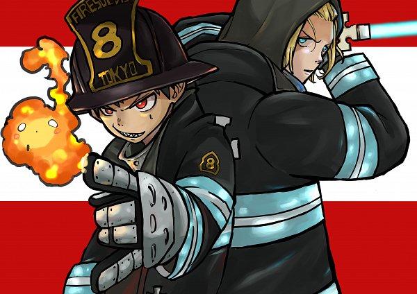 Tags: Anime, Pixiv Id 36610307, Enen no Shouboutai, Arthur Boyle, Kusakabe Shinra, Pixiv, Fanart, Fanart From Pixiv, Fire Force