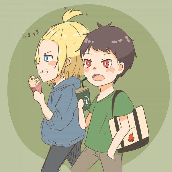 Tags: Anime, Pixiv Id 5734495, Enen no Shouboutai, Arthur Boyle, Kusakabe Shinra, Fire Force