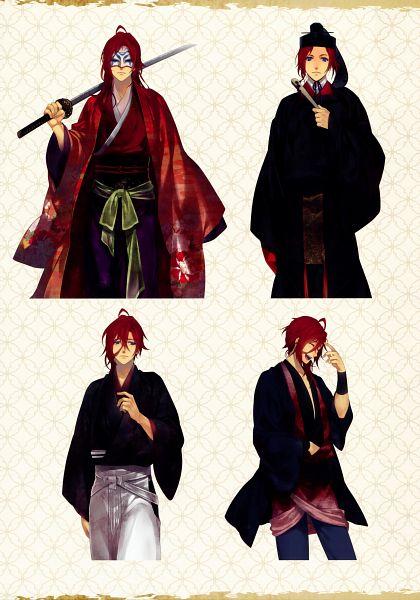 Tags: Anime, Yomi (Pixiv390297), Rejet, Ken ga Kimi Wafuu Denki Emaki, Ken ga Kimi, Enishi (Ken ga Kimi), Character Sheet, Scan, Mobile Wallpaper, Official Art