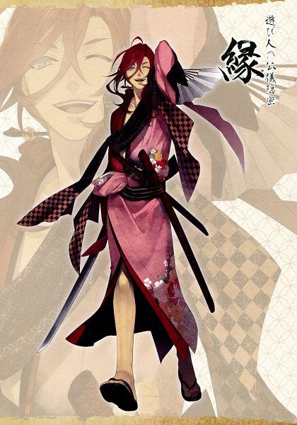Tags: Anime, Yomi (Pixiv390297), Rejet, Ken ga Kimi Wafuu Denki Emaki, Ken ga Kimi, Enishi (Ken ga Kimi), Official Art, Scan, Mobile Wallpaper