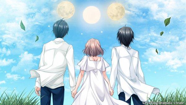 Tags: Anime, Gogo-chan, A'sRing, Enkan no Memoria, Katsuki Minato, Hayami Riku, Katsuki Sayu (Enkan no Memoria), CG Art, Official Art