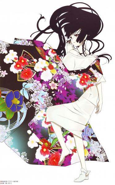 Tags: Anime, Oka Mariko, Studio DEEN, Jigoku Shoujo, Enma Ai, Official Art, Mobile Wallpaper, Scan