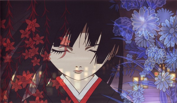 Tags: Anime, Oka Mariko, Jigoku Shoujo, Enma Ai, Screenshot, Wallpaper