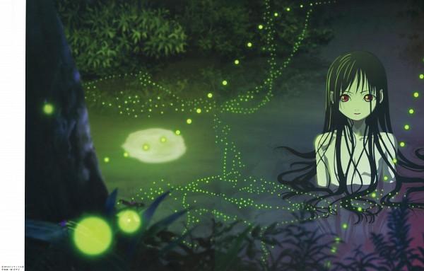 Tags: Anime, Oka Mariko, Studio DEEN, Jigoku Shoujo, Enma Ai, Fireflies, Official Art