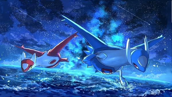 Tags: Anime, Pixiv Id 1922055, Pokémon, Latios, Latias, Pixiv, Fanart From Pixiv, Legendary Pokémon, Fanart, Facebook Cover, Eon Duo