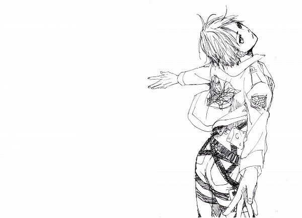 Tags: Anime, Pixiv Id 4184095, Attack on Titan, Eren Jaeger, Line Art, Eren Yeager
