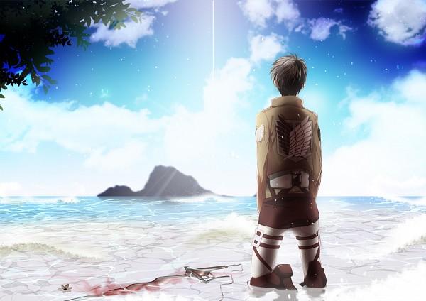 Tags: Anime, Yu (13377), Attack on Titan, Eren Jaeger, Island, Pixiv, Eren Yeager