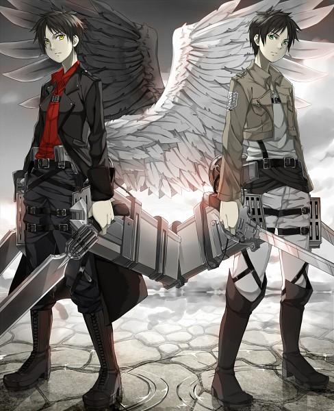 Tags: Anime, Fumio (Kanmi), Attack on Titan, Shingeki no Kyoujin -Hangeki no Tsubasa-, Eren Jaeger, Gunblade, Pixiv, Fanart, Fanart From Pixiv, First-Class Movement Infantry, Eren Yeager