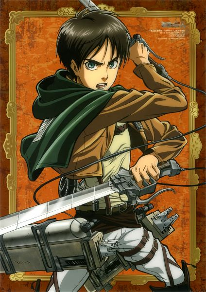 Tags: Anime, Tomita Megumi, WIT STUDIO, Attack on Titan, Eren Jaeger, Mobile Wallpaper, Official Art, Scan, Eren Yeager