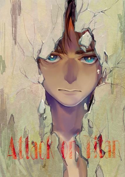 Tags: Anime, Quan-, Attack on Titan, Eren Jaeger, Cracks, Mobile Wallpaper, Fanart From Pixiv, Pixiv, Fanart, Eren Yeager