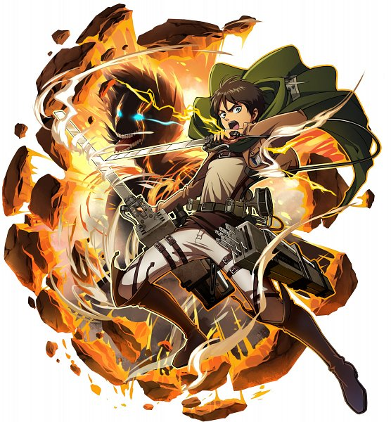 Tags: Anime, studioking, Attack on Titan, Boku & Dragons, Eren Jaeger, Official Art, Eren Yeager