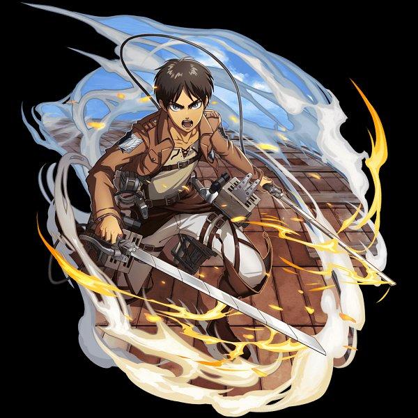 Tags: Anime, studioking, Attack on Titan, Boku & Dragons, Eren Jaeger, Official Art, Eren Yeager