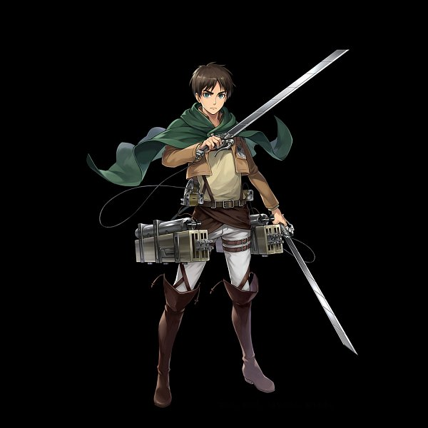 Tags: Anime, gumi Inc., Attack on Titan, Crystal of Re:union, Eren Jaeger, Multiple Weapons, Official Art, Eren Yeager