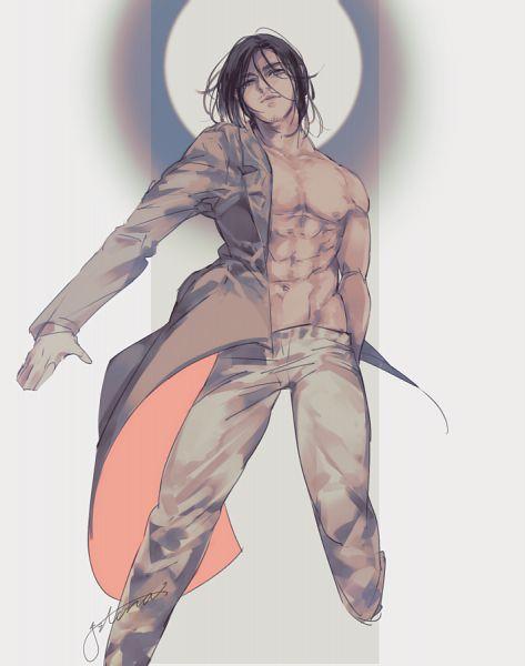 Tags: Anime, Attack on Titan, Eren Jaeger, Pecs, Jito 35, Fanart, After Shiganshina, Eren Yeager