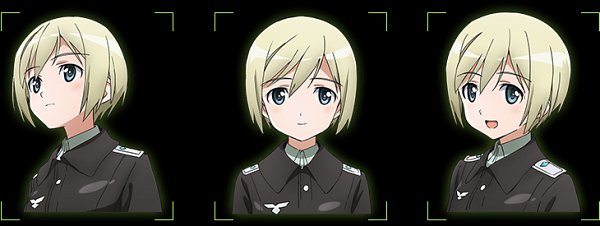 Tags: Anime, Takamura Kazuhiro, david production, Strike Witches: Road to Berlin, Strike Witches, Erica Hartmann, Official Art
