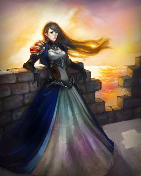 Tags: Anime, Erina (Pixiv548610), Leaning On Wall, deviantART, Original